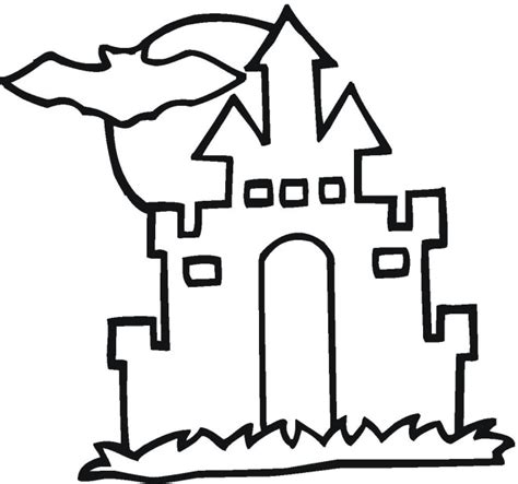 printable haunted house outline hauntedhouse coloring pages