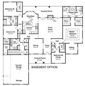 house plans with basement alternate basement floor plan 1st level 3 bedroom house