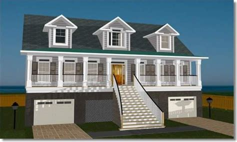 elevated home designs elevated house plans for flood zones elevated home plans