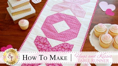 how to make a table runner how to make the hugs kisses table runner with jennifer
