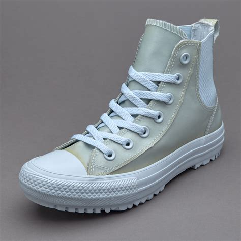 Kaos Cowok Merk Converse Grey Original sepatu sneakers converse womens chuck all chelsea boot translucent rubber polar blue
