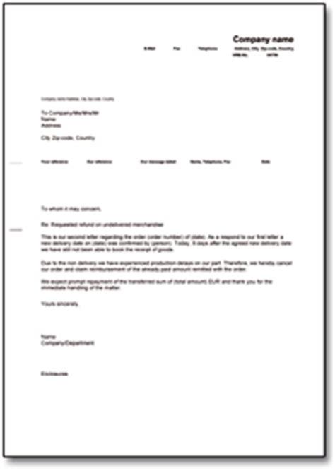 Musterbrief Angebot Machen forderung zur r 252 ckzahlung bei nichtlieferung englisch