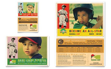 Baseball Card Template Publisher by Baseball Sports C Flyer Ad Template Word Publisher