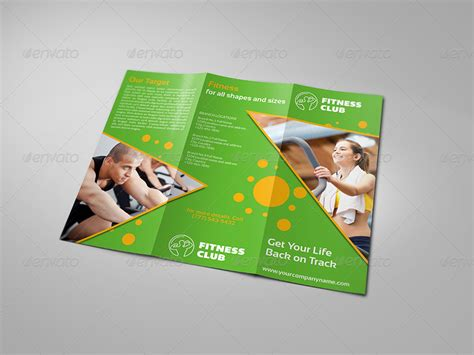fitness gym brochure tri fold template vol 2 by