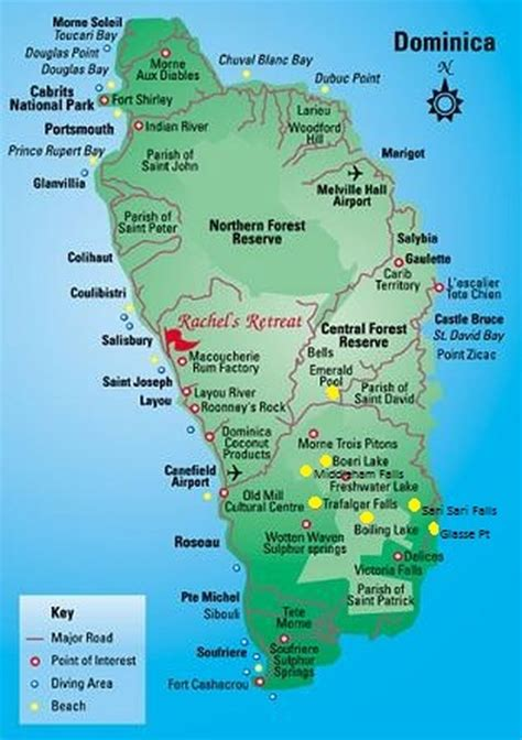 dominica on a map dominica 7 hikes in 4 days simply fabulous sailinghelia