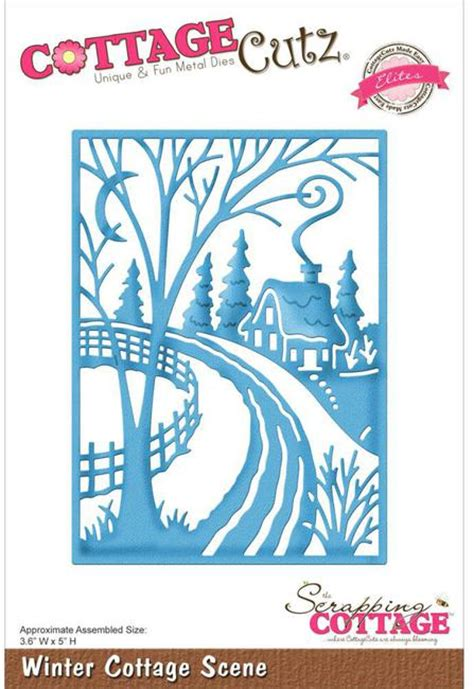 Cottage Die Cuts by Cottagecutz Winter Cottage Die Sc Cce 197