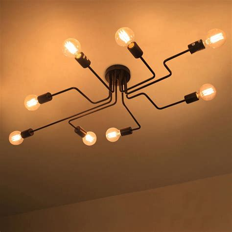 industrial Vintage Ceiling Lights lamps luminaria de teto modern Ceiling lamp Home Lighting