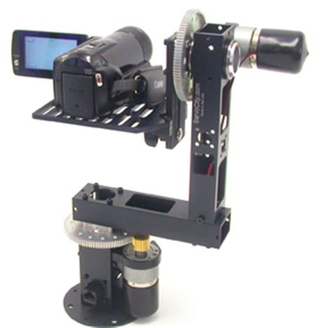 motorized pan tilt head on jib / crane | cheesycam