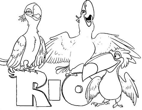 rio birds coloring pages rio coloring drawing coloring