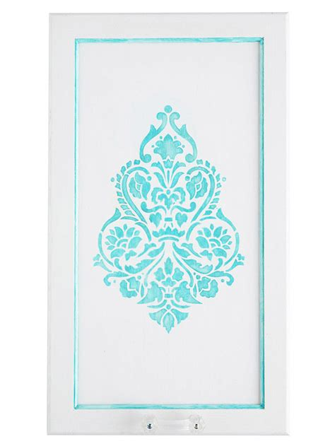 stencils for cabinet doors kitchen cabinet makeover stylish stenciled doors
