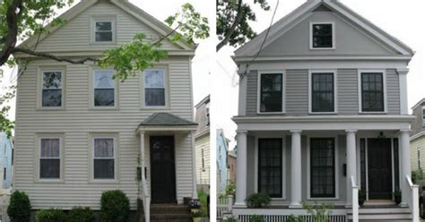 house renovation before and after an urban cottage greek revival exterior renovation