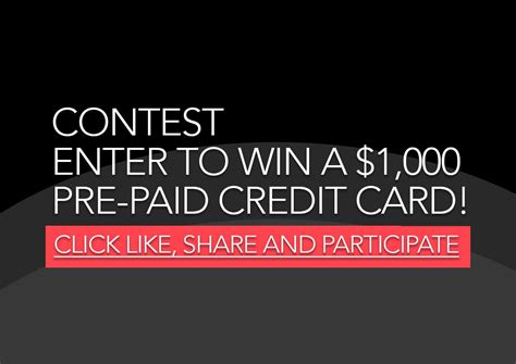 Enter For A Chance To Win Money - contest enter for a chance to win a 1 000 pre paid credit card