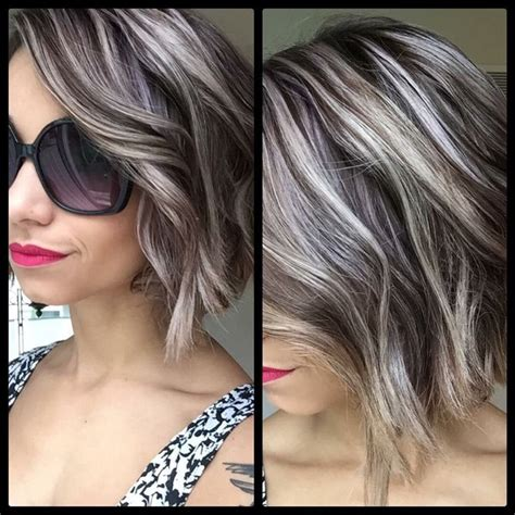 putting silver on brown hair the most awesome images on the internet grey highlights