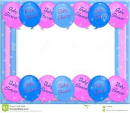 baby shower for both sexes baby shower invitation border stock illustration image