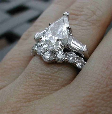 2 carat pear shaped engagement ring wedding and bridal