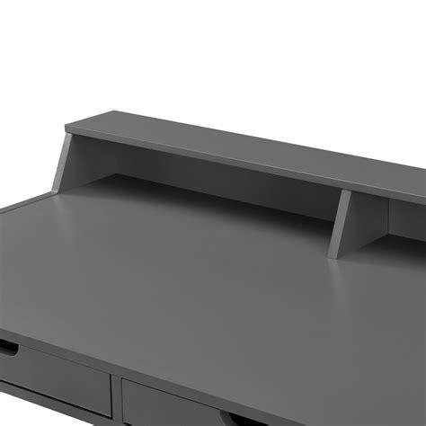 scrivania faggio en casa 174 scrivania retro faggio grigio tavolo per
