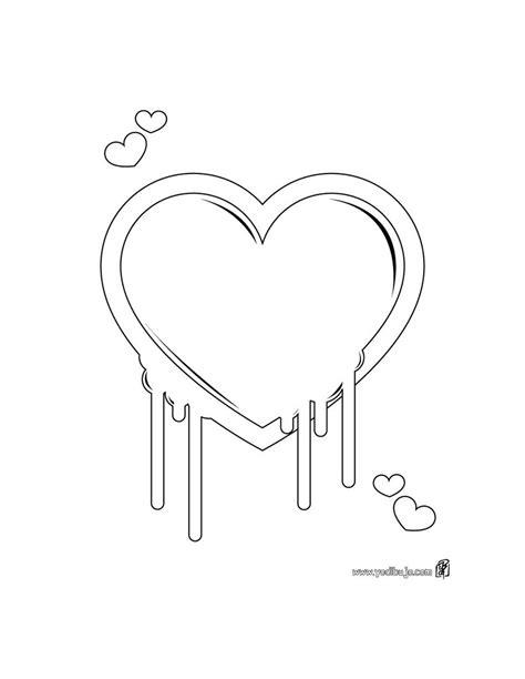 Imagenes De Corazones Sencillos | dibujos bonitos de amor dibujos rom 225 nticos para pintar