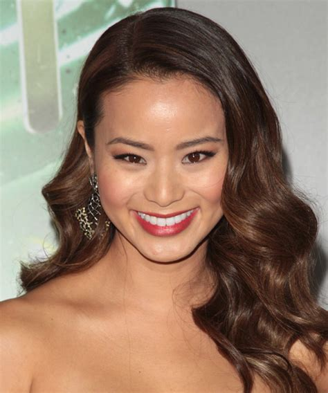 Jamie Chung Long Wavy Formal Wedding Hairstyle   Medium