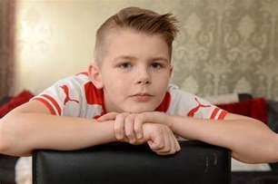 9 year hair syles hair boys boy 9 banned from class over olivier giroud haircut
