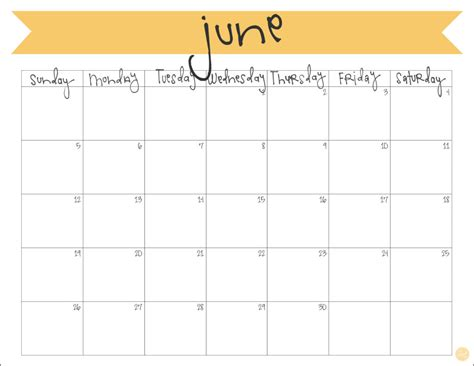 printable banner calendar 2016 june 2016 calendar free printable live craft eat
