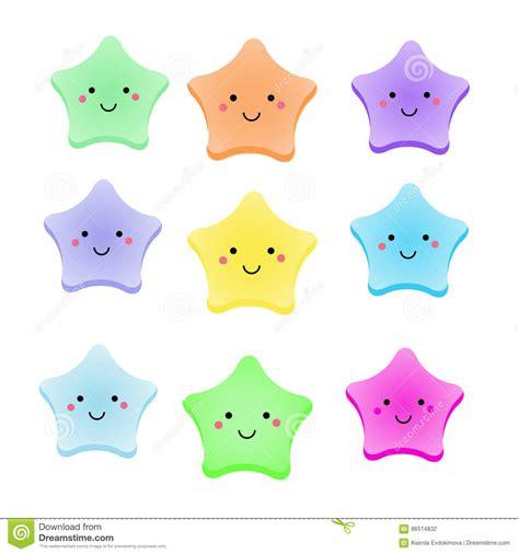 imagenes de estrellas kawaii cute kawaii stars isolated design elements for kids
