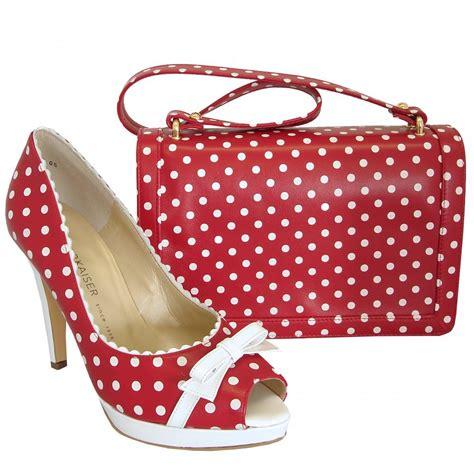 polka dot shoes kaiser and white polka dot high heel