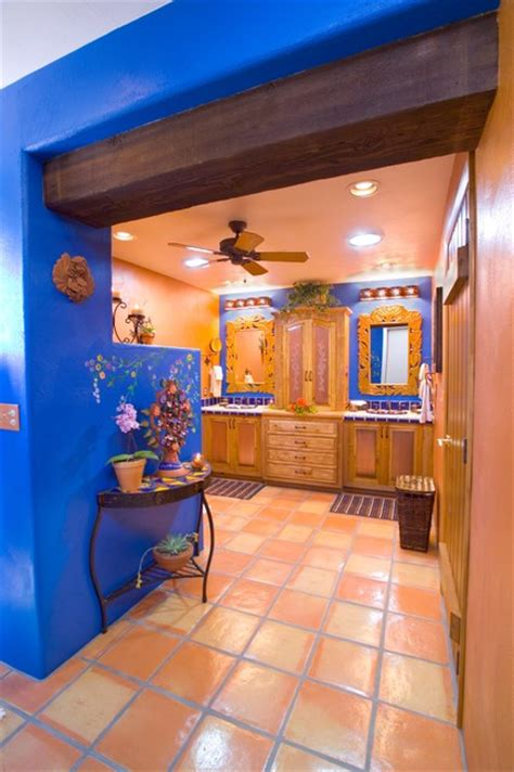 bathroom bold mexican style mediterranean bathroom