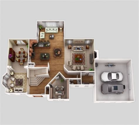 single floor house plans in 3d this for all awesome 3d floor plans with 5 bedroomsadfcfeb bedroom