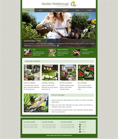 garden layout template ready garden walkthrough web template free website