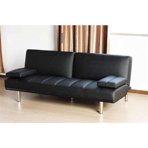 pu leather couch pu leather click clack sofa bed couch in black buy sofa beds