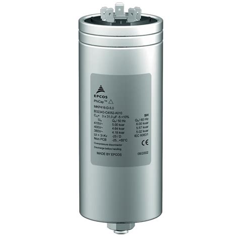 power of capacitor buy epcos 25 kvar phicap power capacitor at low price in india