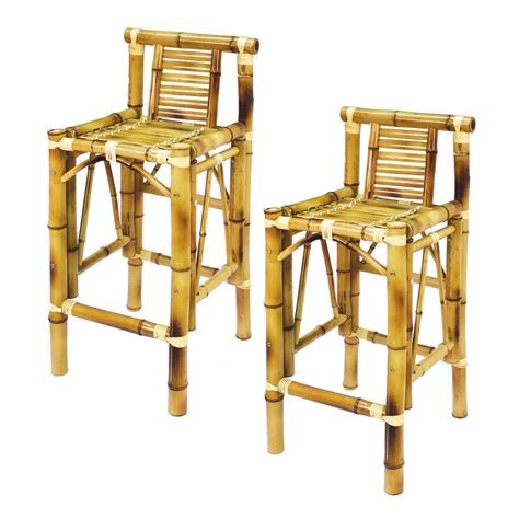 Bamboo Bar Stools Chairs by Ram Gameroom Tbstl Bamboo Tiki Bar Stools Set Of 2