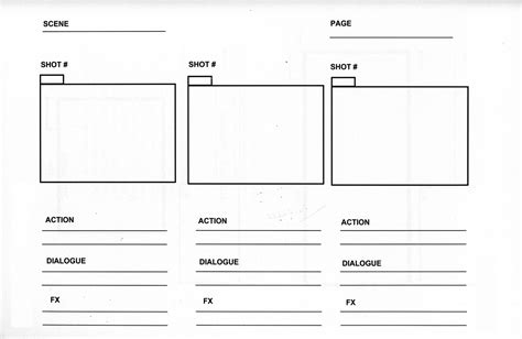 storyboard template word horizontal format