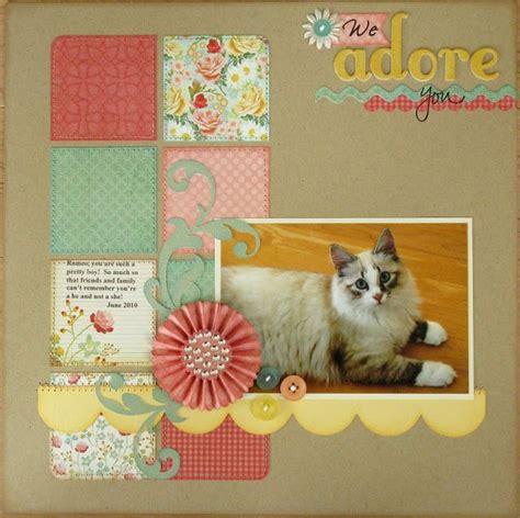 scrapbook layout cat love this cat layout scrapbooking pinterest