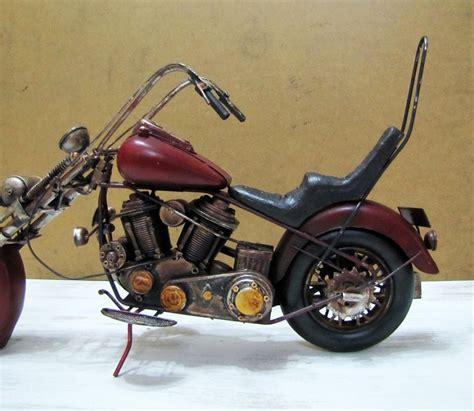 el yapimi kahve metal motosiklet motor bueyuek boy cm