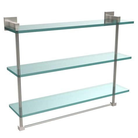 Glass Shelves Shelf Brackets The Home Depot Glass Shelves Home Depot