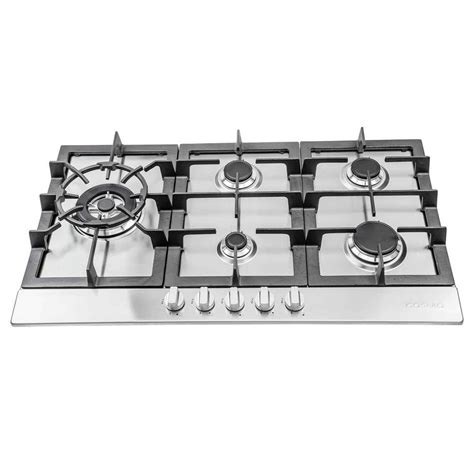 5 Burner Gas Cooktop With Downdraft kitchenaid 36 in gas downdraft cooktop in stainless steel with 5 burners kcgd506gss the home