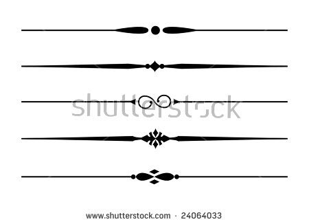 dividers accents 7 five decorative lines stock vector