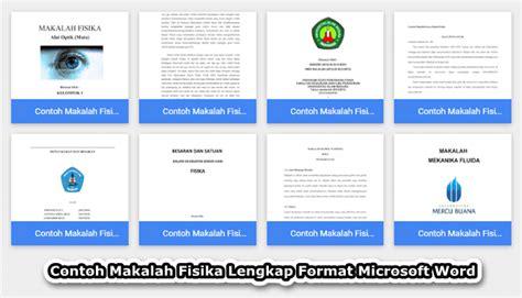 format makalah sederhana word contoh makalah fisika lengkap format microsoft word