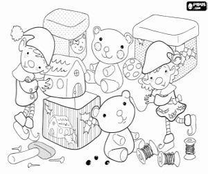 christmas elves coloring pages printable games