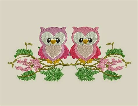 embroidery design tube free download download free 2 owl design machine embroidery download