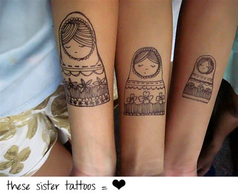 sister tattoos for 3 25 lovely tattoos slodive