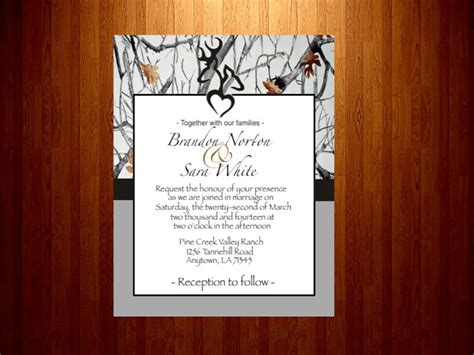 Snow Camo Wedding Invitations Sunshinebizsolutions Com Camouflage Wedding Invitations Templates