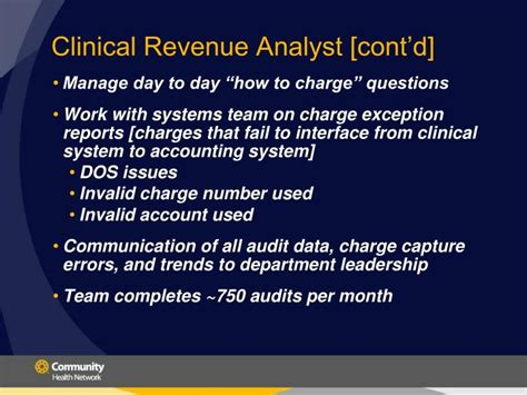Clinical Systems Analyst by Ppt Charge Integrity Protecting The Bottom Line For Your Facility Powerpoint Presentation
