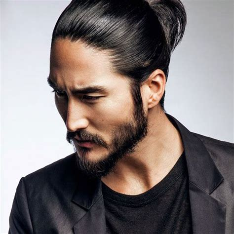 mens hair style that dont need product asian long hair in need of a corporate business