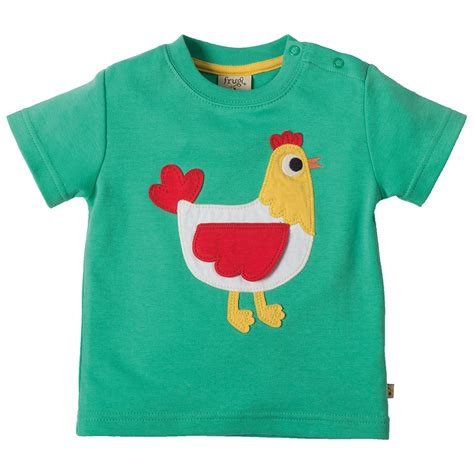applique shirt frugi hen creature applique t shirt