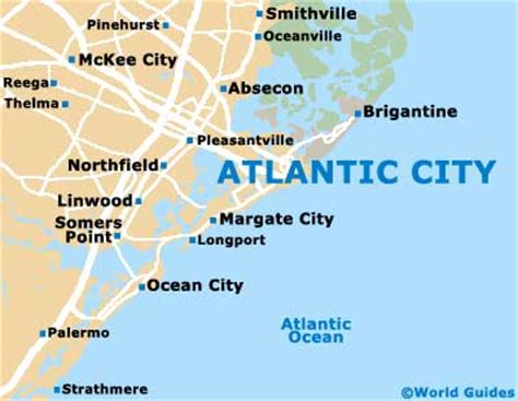atlantic city map road map of atlantic city images