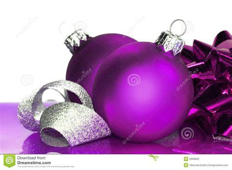 purple christmas balls stock photo image  decoration