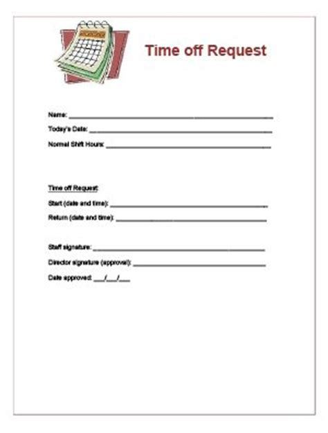 free printable time off sheets printable time off request form pictures to pin on