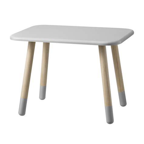 table enfant gris clair bloomingville pour chambre